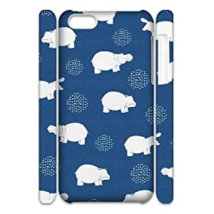 Lycase(TM) Cute Hippo Custom 3D Cover Case, Cute Hippo Iphone 5C 3D Case