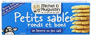 Michel Et Augustin Petits Sables Ronds et Bons Au Beurre Un Peu Sale (Small Round Slightly Salted Butter Cookies), 4.23-Ounce Boxes (Pack of 3)