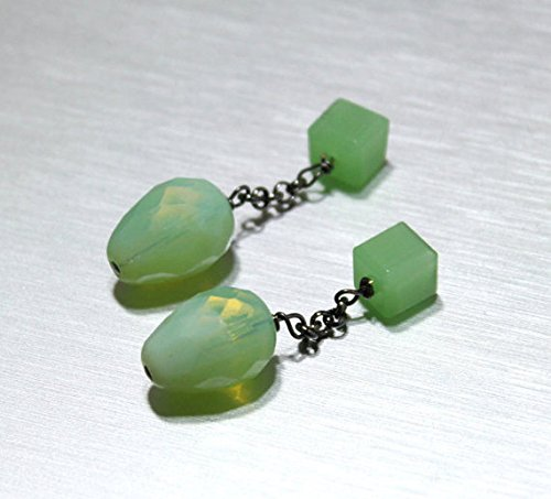 Green Handmade Cufflinks - 6