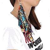 Colorful Handmade African dashiki earring Accessories for Women African Bohemia Style ankara dashiki cotton fabric jewellery