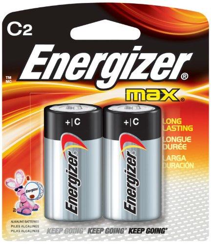 6 Pack Energizer E93BP-2 C Cell Alkaline Batteries 2 Batteries per Package