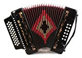 ROSSETTI 31 BUTTON 3112 DIATONIC GCF SOL ACCORDION (BLACK)