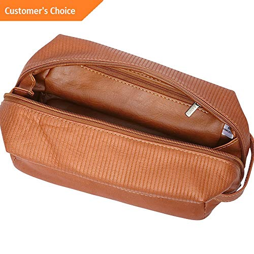 Amazon.com: Sandover Piel Impresso Classic Toiletry Bag 2 Colors Toiletry Kit NEW | Model LGGG - 7469 |: Sandover