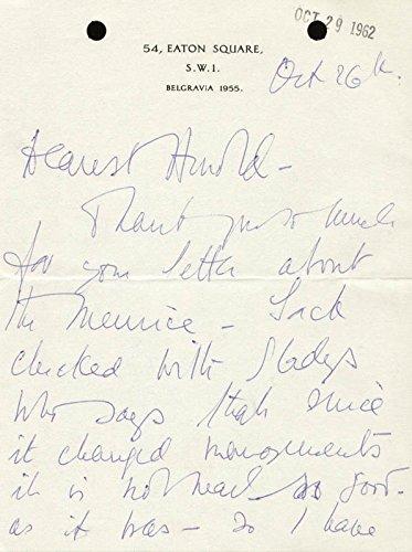 Vivien Leigh – Autograph Letter Signed 10/26/1962