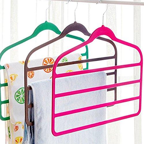Amazon.com: eDealMax terciopelo antideslizante Mantón Escudo de toallas de ropa Pantalones Titular de Rack Organizador gris: Home & Kitchen