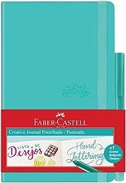 Caderno Pontilhado + Fine Pen, Faber-Castell, Creative Journal, CDNETA/VD, 84 Folhas, Verde