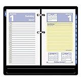TableTop King E51750 QuickNotes 3 1/2'' x 6'' 2018 Desk Calendar Refill