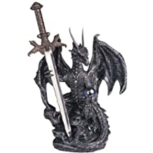 StealStreet SS-G-71329 Dragon Collection with Sword Collectible Fantasy Decoration Figurine