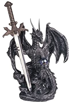 Le Elegant Dragon Sword Collectible Fantasy Decoration Figurine 13 High 8071345