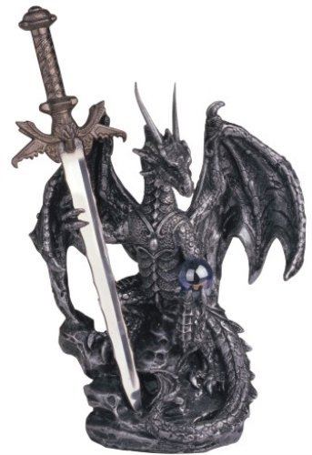 George S. Chen Imports SS-G-71329 Dragon Collection with Sword Collectible Fantasy Decoration Figurine