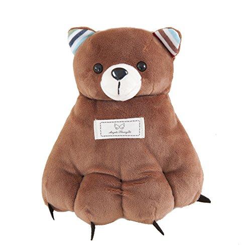 Artone Kids Cute Bear Claw Soft Puppet Warm Winter Gloves Deep Brown
