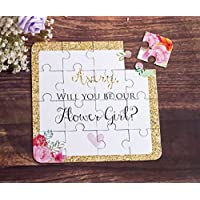 Flower Girl Gift Puzzle Invitation CUSTOM Will You be My Flower Girl Card
