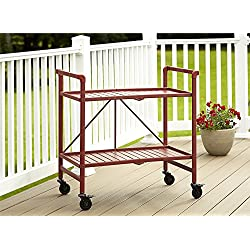 Cosco Indoor/Outdoor Serving Cart, Folding, Red