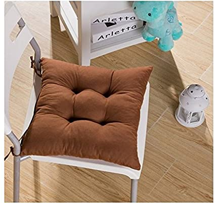 Marrellous Coffee Feshion Soft Chair Cushion Seat Pad Seat Cushion Kitchen Garden Dining Chair 40X40X8Cm Coffee