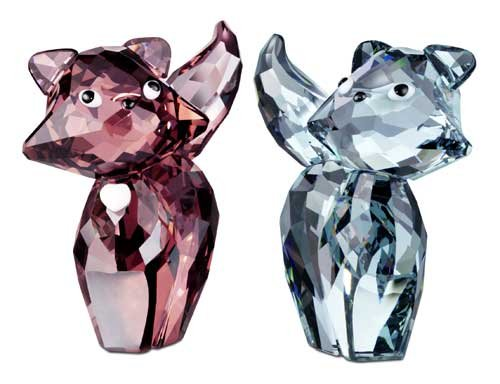 Swarovski Crystal Marie and Pierre Cats