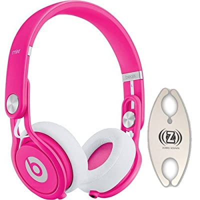 Monster Cable Beats Mixr Neone Pink DJ Headphones Carry Pack with Wire Holder