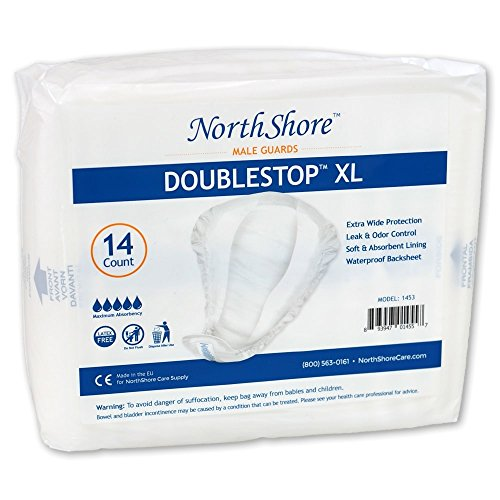 Northshore DoubleStop XL Male Guards, Pack/14 by NorthShore Care Supply (Image #2)