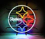 "Queen Sense 14""x14"" Pittsburgh Steeler Neon Sign Light Beer Bar Pub Man Cave Real Glass"