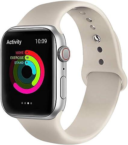 Lerxiuer Smartwatch Correa 38mm 40mm Silicona Suave Reemplazo ...