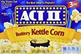 popcorn act ii - Act II Buttery Kettle Corn Microwave Popcorn 4 Boxes of 3 (12 Bags Total)
