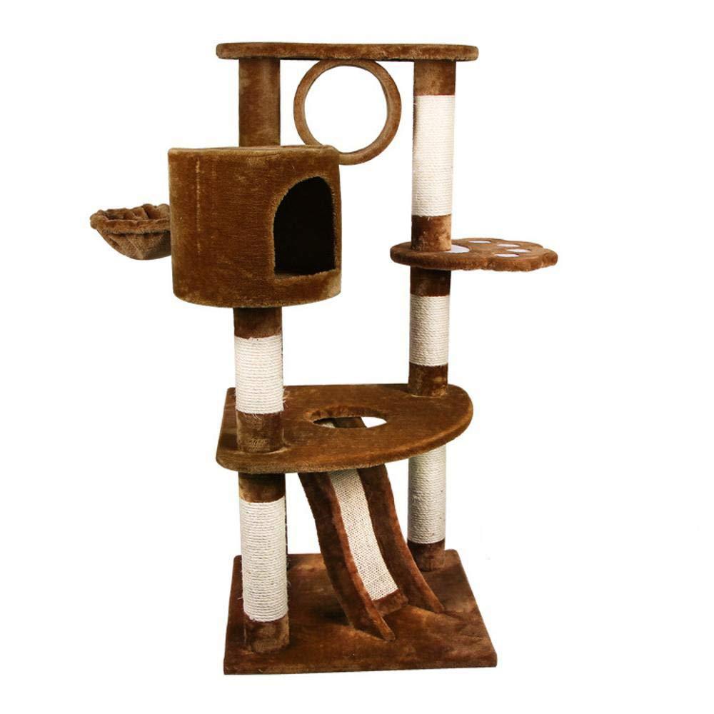 Axiba Alberi di gatto Multi-funzione Multi-funzione Multi-funzione multi-strato piattaforma multifunzionale sisal grab piastra grab colonna animale domestico gatto prodotti 54  54  117 cm 5a9eb4