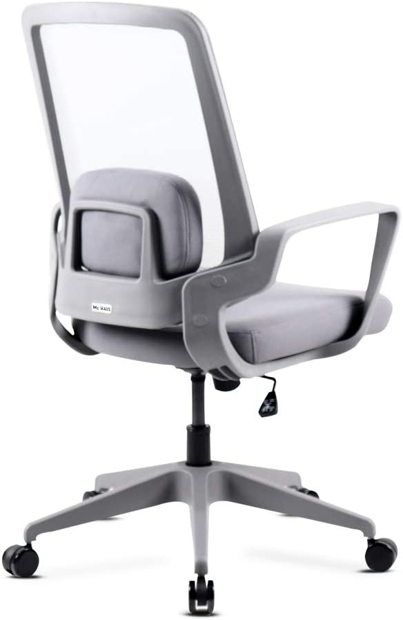 Bianco 62x62x100-110cm Mc Haus Adonis Bianco Sedia da scrittoio regolabile Ergonomia Ufficio Office