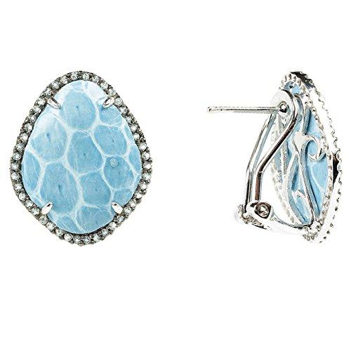 Snakeskin Diamond CZ Earring Ice Blue