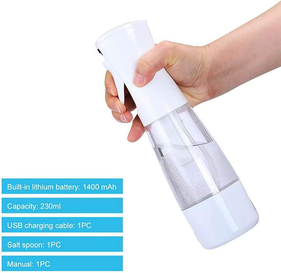 Disinfectant Water Making Machine,Salt-Water Generator Smart Sprayer,Portable Sodium Hypochlorite Maker Generator Plastic Spray Bottle Refillable Empty Mist Spray Bottle