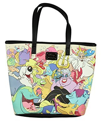 Amazon.com: Loungefly Disney La Sirenita Collage bolsa Bag ...