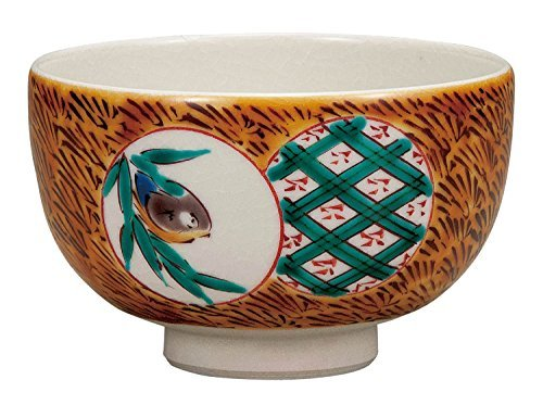 Kutani Yaki Bird Porcelain 4.7inch Matcha Bowl by Watou.asia