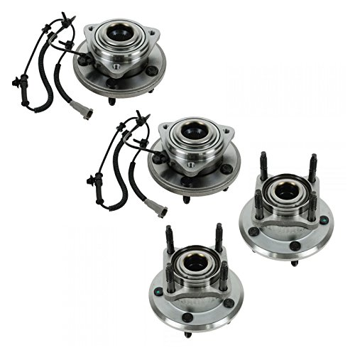 Wheel Bearing & Hub Assembly Front Rear LH RH Set of 4 for Jeep