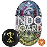 "INDO BOARD Original Balance Board for Improving Balance or Use With Standing Desk - Comes with 14"" Adjustable Cushion and Non-Slip Wood Deck - Doodle Design"