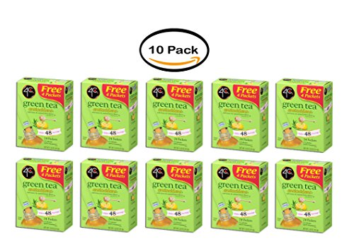 PACK OF 10 - 4C Totally Light Drink Mix, Green Tea, 1.53 Oz, 20 Packets, 1 Count from 4C
