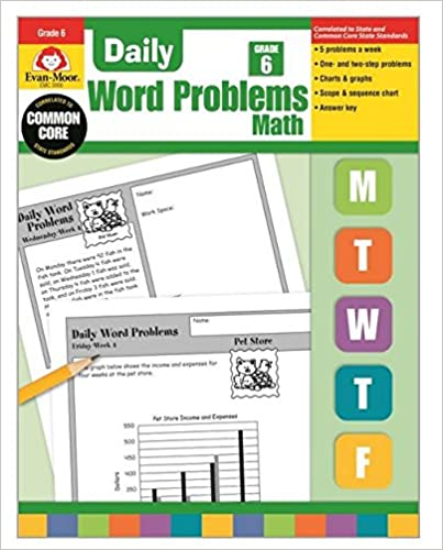 Amazon.com: Daily Word Problems, Grade 6 (0023472030061): Evan ...