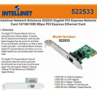 Intellinet 522533 Network Solutions Gigabit PCI Express Network Card