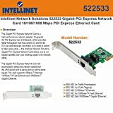 Intellinet 522533 - Network adapter, PCI Express x1, Ethernet, Fast Ethernet, Gigabit Ethernet - 10Base-T, 1000Base-TX, 100Base-TX, 1000Base-T