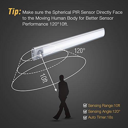 66 LED Under Cabinet Light , Rechargeable Motion Sensor
