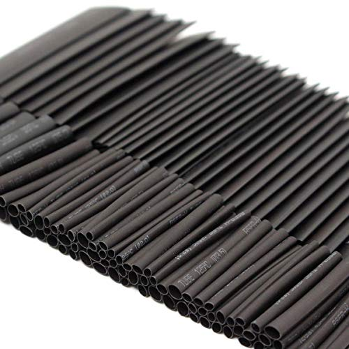 Sopoby Heat Shrink Tubings, 508pcs Wire Wrap Cable Sleeve Tube Sets, Electric Insulation Tube Assorted Size 2-13mm Black