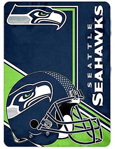 Seattle Seahawks blanket throw 66x90 XXL Lightweight NFL bedding (Seahawks Blanket King)