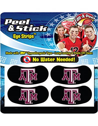 - Texas A&M University (TAMU) Aggies - Waterless Peel & Stick Eye Strips - 4-Piece