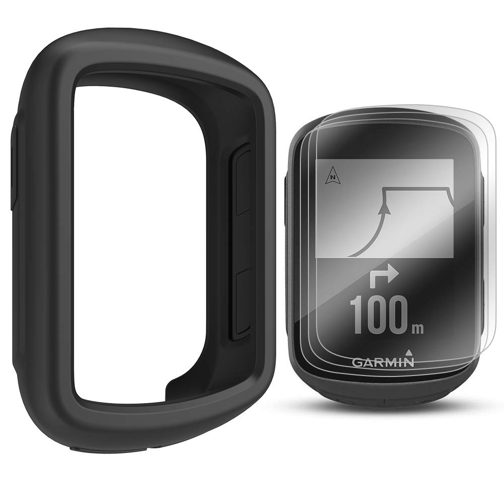 d5faa0ac5fc Amazon.com: TUSITA Case with Screen Protector for Garmin Edge 130 GPS -  Silicone Protective Cover Skin - GPS Bike Computer Accessories (Black): GPS  & ...