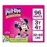 Pull ups Learning Designs for Girls Potty Training Pants, 3t-4t (32-40 Lbs.), 96 count