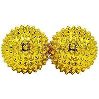 Heim & Büro Magneet acupressuur massageballen - 2 stuks goud, klein
