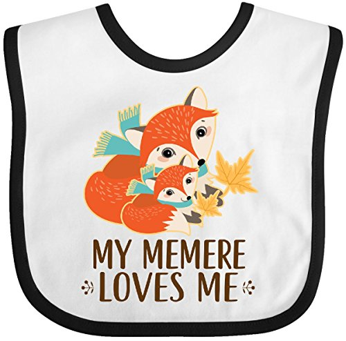 (Inktastic - My Memere Loves Me Fox Baby Bib White/Black 2dbfc)