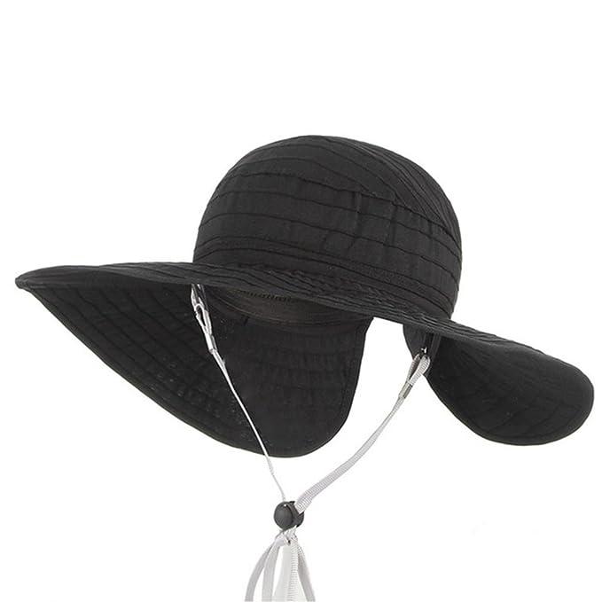 Amazon.com  Kids Summer Sun Hats-Baby Empty Top Wide Brim Floppy ... c5d98d7cc51