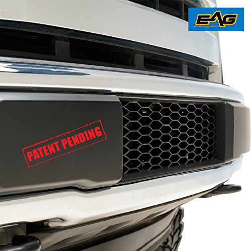 Mesh Grille Lower (EAG F150 Bumper Grille ABS Mesh Lower Grill for 15-17 Ford F150 OE Bumper - Matte Black)