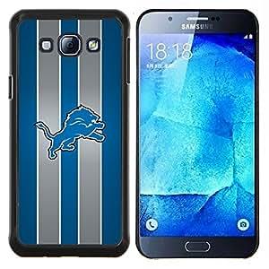León Equipo deportivo- Metal de aluminio y de plástico duro Caja del teléfono - Negro - Samsung Galaxy A8 / SM-A800