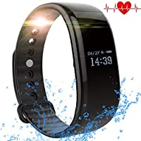 Fitness Tracker Watch, TH Waterproof Fitness Tracker with Heart Rate Monitor Activity Bluetooth Bracelet Watch for Apple IOS Android Smartwatch with Sleep Monitoring Wristband Band