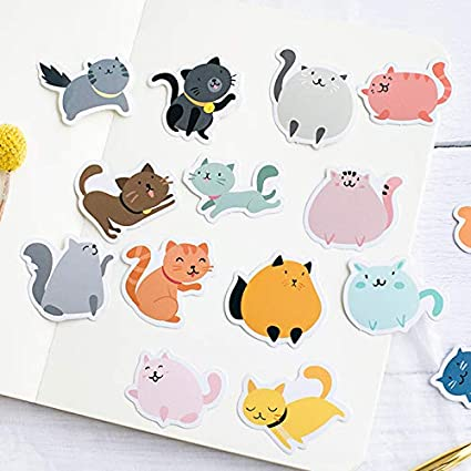 Jingyuu Hand account sticker per DIY scrapbooking album fotografico diario notebook biglietto d auguri 4.4 4.4 1.1CM Cat