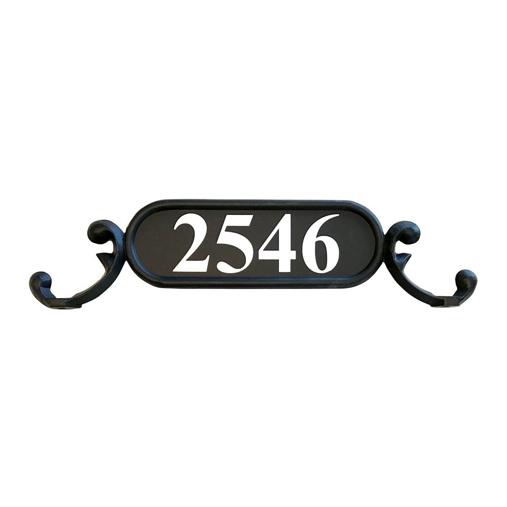 The Charleston Mailbox Address Number Plate (Silver Reflective)